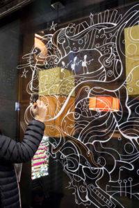 Pintura mural cristal costello