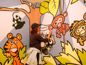 Pintura Mural Elennon color habitacion selva