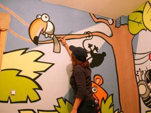 Pintura Mural Murales Elennon color habitacion selva