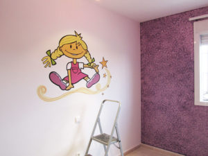 Pintura Mural Elennon color habitacion