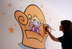 Pintura Mural Murales Elennon color niña