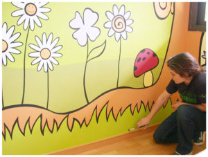 Pintura Mural Murales Elennon color bosque