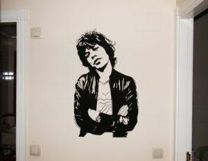 Pintura Mural Murales Elennon mick jagger