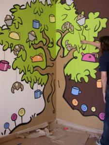 Pintura Mural Elennon color arbol