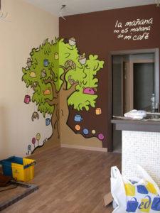 Pintura Mural Murales Elennon color arbol